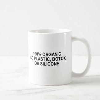 no plastic, botox or silicone t-shirt coffee mugs