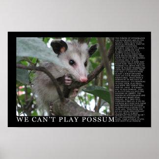 No podemos jugar el poster del oposum