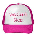 No podemos parar gorras