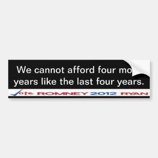 No podemos permitirnos pegatina de cuatro a más añ pegatina para auto