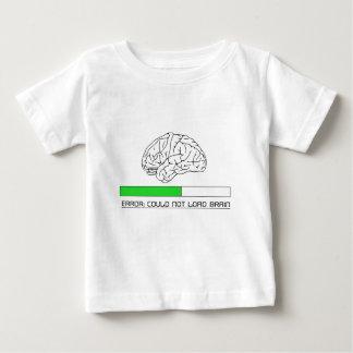 No podía cargar el cerebro playera de bebé