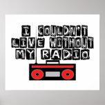 No podría vivir sin mi radio impresiones