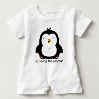 No Poking The Penguin Baby Romper