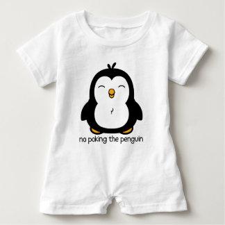 No Poking The Penguin Baby Romper