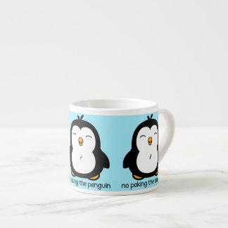 No Poking The Penguin Espresso Cup