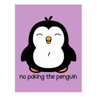 No Poking The Penguin Postcard