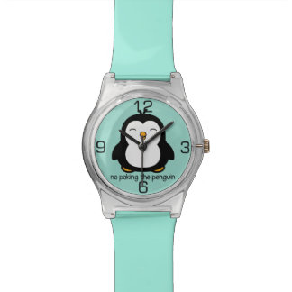 No Poking The Penguin Wrist Watches