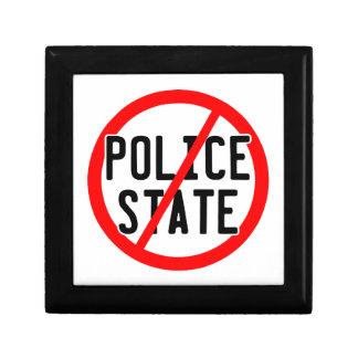 NO POLICE STATE - nwo/illuminati/occupy/bankster Jewelry Box