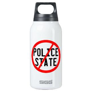 NO POLICE STATE - nwo/illuminati/occupy/bankster Insulated Water Bottle