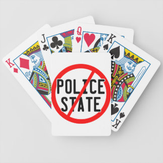 NO POLICE STATE - nwo illuminati occupy bankster Deck Of Cards