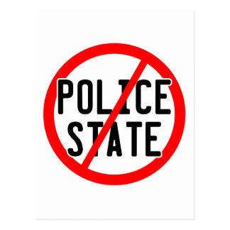 NO POLICE STATE - nwo/illuminati/occupy/bankster Postcard