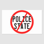 NO POLICE STATE - nwo/illuminati/occupy/bankster Rectangular Sticker
