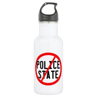 NO POLICE STATE - nwo/illuminati/occupy/bankster Water Bottle