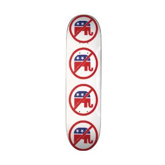 No Politics Republican Elephant Custom Skate Board
