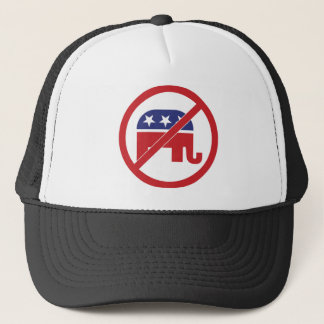 No Politics Republican Elephant Trucker Hat