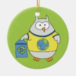 No Polluter Hooter Christmas Ornament