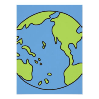 No Polluter Hooter Earth Recycle Symbols Personalized Announcement
