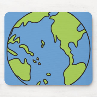 No Polluter Hooter Earth & Recycle Symbols Mouse Pad