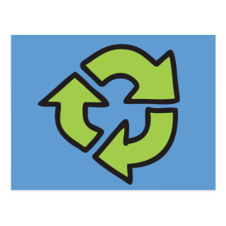 No Polluter Hooter Earth & Recycle Symbols Postcard