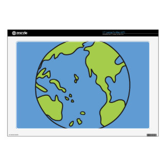 No Polluter Hooter Earth & Recycle Symbols Decals For Laptops