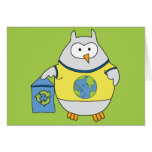 No Polluter Hooter Greeting Cards