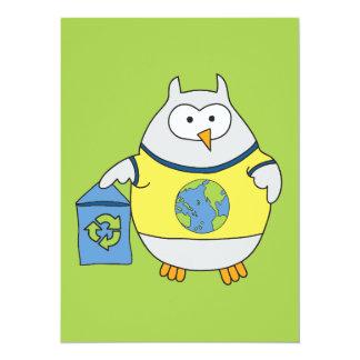 No Polluter Hooter 5.5x7.5 Paper Invitation Card