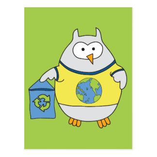 No Polluter Hooter Postcard