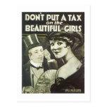 No ponga un impuesto en el cancionero hermoso Co d Tarjetas Postales