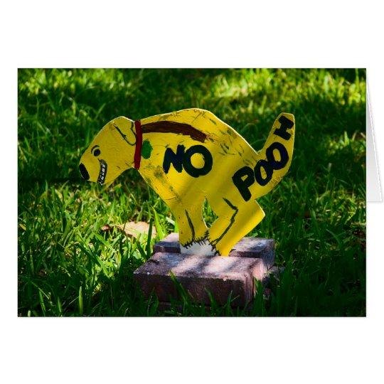 No Pooh Card