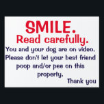 "NO POOPING OR PEEING SIGN FOR DOG OWNERS<br><div class=""desc"">Tired of cleaning up after irresponsible dog owners. This sign could help your lawman remain poop and pee free.</div>"