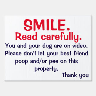 NO POOPING OR PEEING SIGN FOR DOG OWNERS