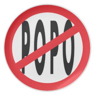 NO POPO! PARTY PLATE