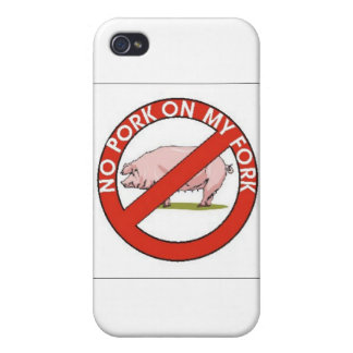 NO PORK ON MY FORK COVER FOR iPhone 4