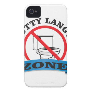 no potty language zone Case-Mate iPhone 4 case