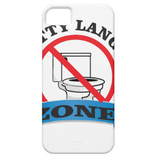 no potty language zone iPhone SE/5/5s case