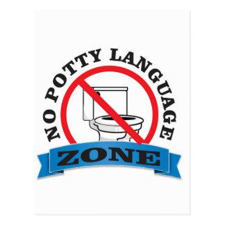 no potty language zone postcard