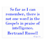 No Praise Of Intelligence In The Gospels Post Cards