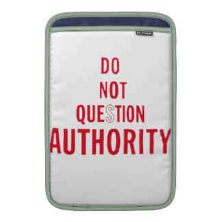 No pregunte la autoridad funda para macbook air
