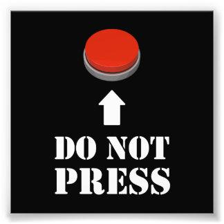 No presione el botón rojo cojinete