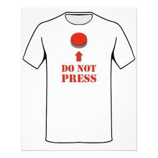 No presione el botón rojo tarjetas publicitarias