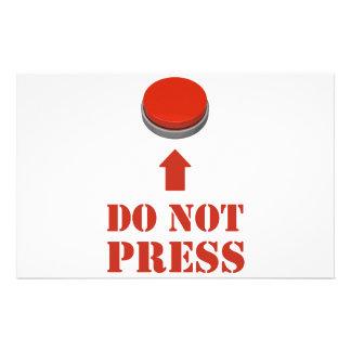 No presione el botón rojo  papeleria de diseño