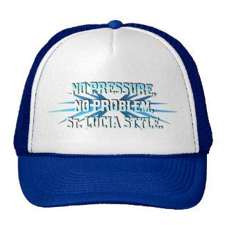 No Pressure No Problem St Lucia Style Hat