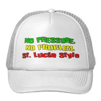 No Pressure No Problem St Lucia Style Mesh Hat