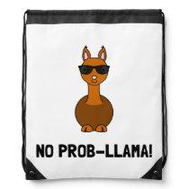 No Prob Llama Drawstring Bag