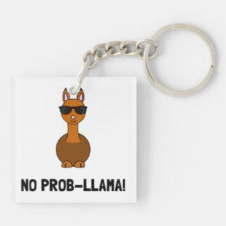No Prob Llama Keychain
