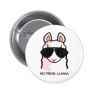 No Prob-Llama Pinback Button