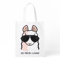 No Prob-Llama Reusable Grocery Bag
