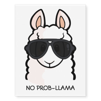 No Prob-Llama Temporary Tattoos
