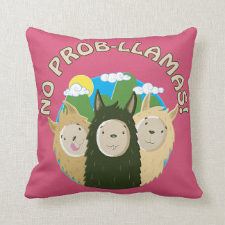 No Prob-Llamas Throw Pillow
