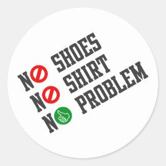 No Problem Classic Round Sticker